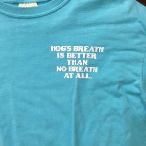 Comfort Colors Shirts - Comfort colors aqua medium hogs breath tee
